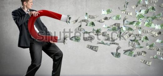 businessmen money magnet