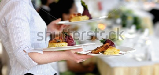 stock-photo-waitress-carrying-three-plates-with-meat-dish-176609747