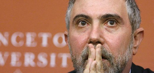 Princeton economics and international affairs professor Paul Krugman listens during his introduction as the 2008 Nobel prize winner in economics at a new conference on the campus of Princeton University in Princeton, New Jersey, October 13, 2008. REUTERS/Tim Shaffer (UNITED STATES) - RTX9IJ6